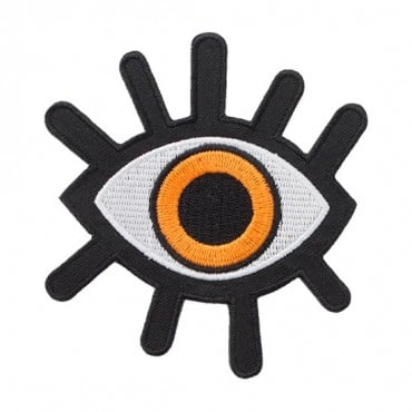 Iron On Orange Eye Patch