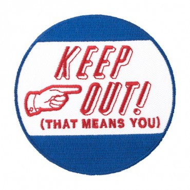 "Iron On ""Keep Out!"" Patch"