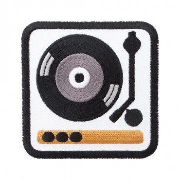 Iron On Record Player Patch
