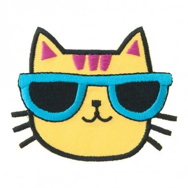 Iron On Cat with Sunglasses Patch