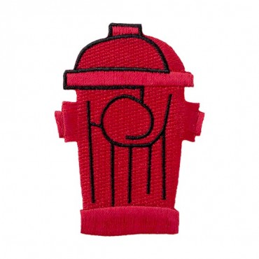 Iron On Fire Hydrant Patch