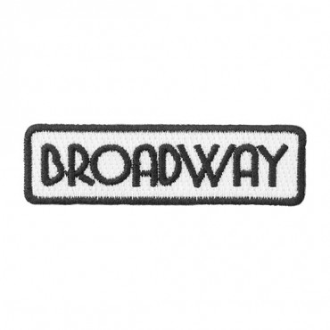 "Iron On ""Broadway"" Patch"