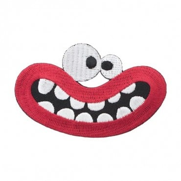 Iron On Big Mouth Patch