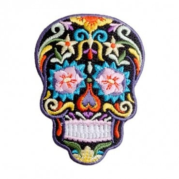 Iron On Sugar Skull Patch