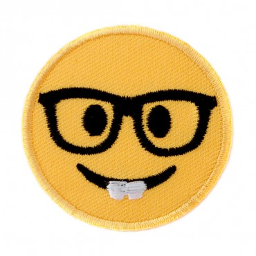 Stick On Emoji with Glasses Patch