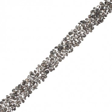 1/2in Iron-On Crystal Cluster Trim