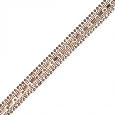 "1/2"" Iron-On Rhinestone Trim"