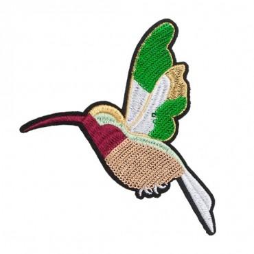 Iron On Sequin Hummingbird Patch