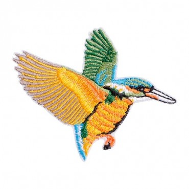 Iron On Flying Hummingbird Patch