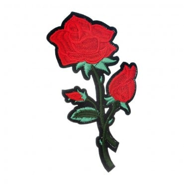 Iron On 3 Rose Patch