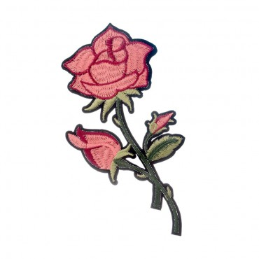 Iron On Peach Rose Patch