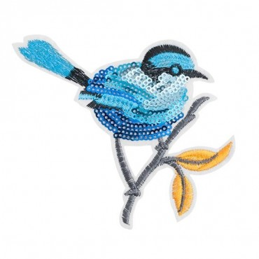 Iron On Bluebird Sequin Patch