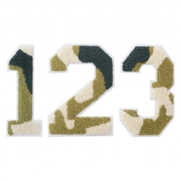 "4 1/2"" Camo Numbers Heat Seal"