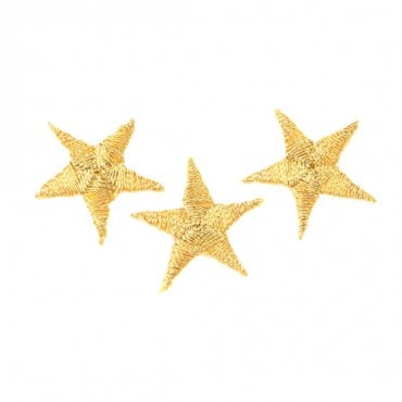 "Iron On ⅞"" Gold Stars Patch"
