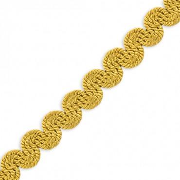"""1/2"""" RAYON SCROLL BRAID - GOLD"""