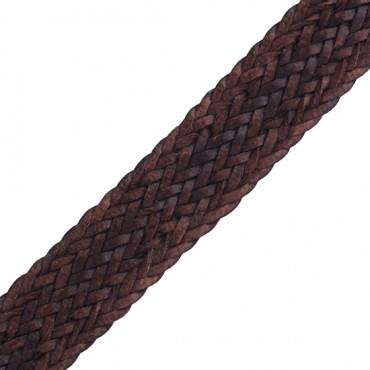 16mm Faux Leather Braid