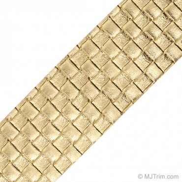 "2"" METALLIC CROSSWEAVE LEATHER TRIM"