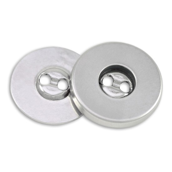 Hemline Sew In Magnetic Buttons Silver