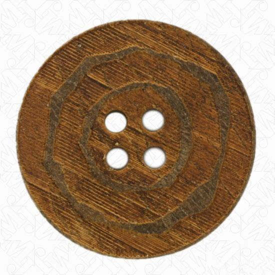 4-Hole Spiral Horn Button