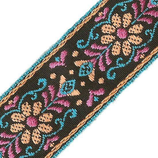 40mm pink gold jacquard embroidered ribbon applique motif trimming decor