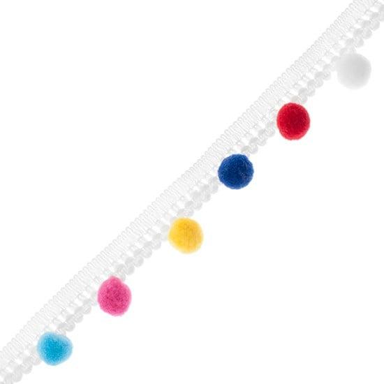 20 Bright Fun Multi Coloured Edge White 13mm Round Buttons Red Purple Green Blue