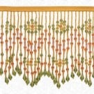 "6"" FLORAL PATTERN BEADED FRINGE"