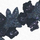 "2 3/4"" SEQUIN FLORAL BEADED TRIM"