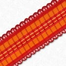 15MM SCALLOP EDGE WIRE RIBBON