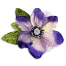 "9"" VELVET AND ORGANZA BLOSSOM FLOWER PIN"