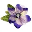 "9"" VELVET AND ORGANZA BLOSSOM FLOWER PIN"