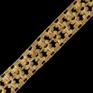 """1"""" (25mm) Floral Metallic Lace"""