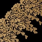 """5 1/2"""" (140 MM) Floral Metallic Lace"""