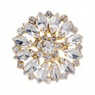 Brilliance Starburst Rhinestone Button