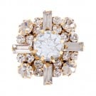 Brilliance Fancy Rhinestone Cluster Button