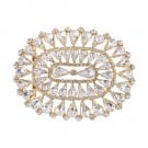 "3 1/2"" x 3"" Art Deco Oval Rhinestone Buckle"