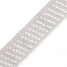 Diagonal Stripe Iron-On Rhinestone Trim