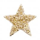 Iron On Small Star Jeweled Patch