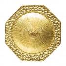 Octagon Metal Button