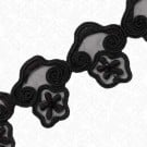 "1 3/4"" EMBROIDERED FLORAL TRIM WITH BEAD"