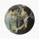 Smoking Couple Button