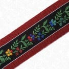 45MM FLORAL RUFFLE EDGE RIBBON