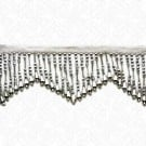 "3"" METALLIC FACETED BEADED FRINGE"