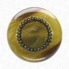 FASHION BUTTON WITH SEED BEADS
