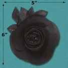 "5"" X 5"" CAMELLIA FLOWER WITH PIN"