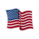 "3"" Waving American Flag Applique"