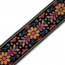 50mm Embroidered Floral Jacquard