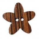 Wood Flower Button