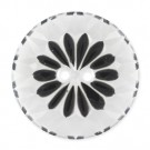 ABSTRACT FLORAL FASHION BUTTON 2-HOLES