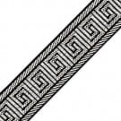 "1 3/8"" (33MM) Metallic Greek Key Jacquard"