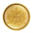 SHIELD CREST METAL BLAZER BUTTON